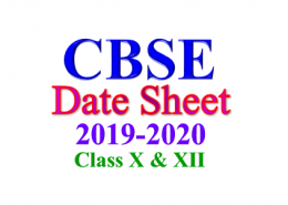 When CBSE Date Sheet 2019-2020 for Class 10 and Class 12 will release?